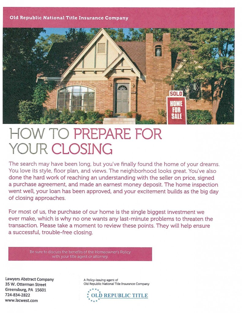 How to Prepare for Closing-page-001